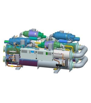 30XW高 效螺杆冷水机组-双拼机组